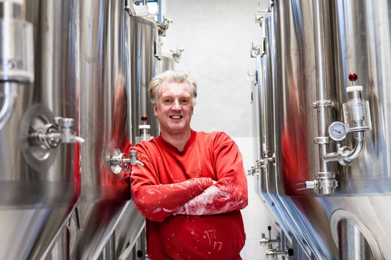 Oscar Moerman: het brein en het kloppende hart van de brouwerij. Hop, mout en gist zitten bij hem in het bloed.